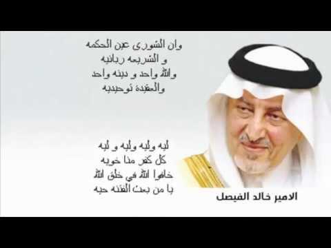 بالفيديو: الأمير خالد الفيصل يهاجم الربيع العربي في قصيدة انتشرت بسرعة على الإنترنت
