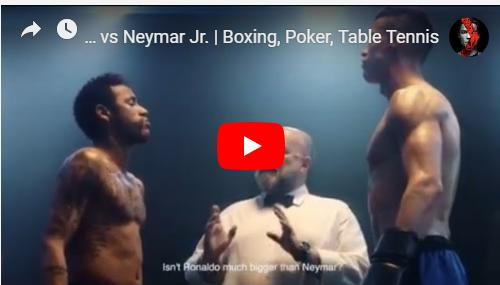 رونالدو يواجه نيمار في حلبة ملاكمة