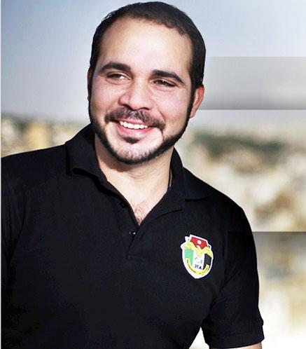 """الأمير علي يرعى حفل مهرجان """"النشامى"""" لتكريم نجوم الكرة الأردنية"""