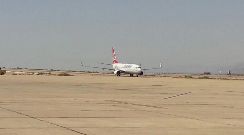 منذ عام ونصف اول طائرة للخطوط التركية تحط بالعقبة