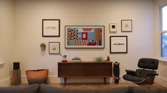 بالفيديو  ..  تلفزيون سامسونغ يتحول الى لوحة فنية في حال الخمول
