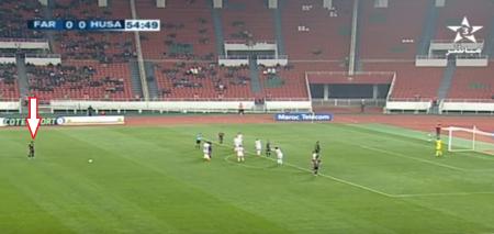 """بالفيديو  .. لاعب مغربي يسجلّ هدفاً عالمياً بقذيفة صاروخية """"خارقة"""""""