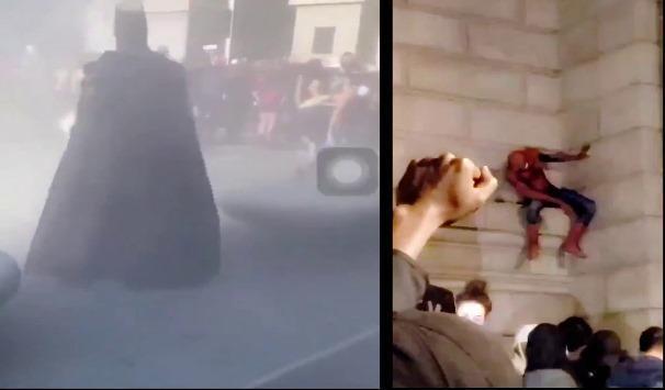سبايدرمان يظهر في احتجاجات أميركا