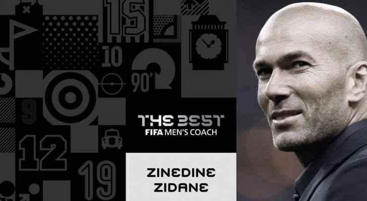 زيدان يتوج بجائزة افضل مدرب في العالم
