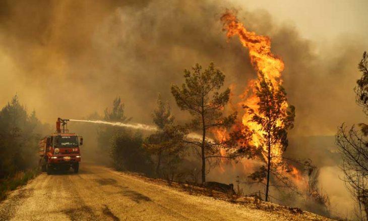 """جماعة """"أبناء النار"""" الكردية تعلن مسؤوليتها عن حرائق الغابات في تركيا  ..  فيديو"""