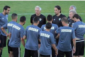 منتخب الاردن يكثف التدريبات تأهبا لإستضافة قيرغيزستان