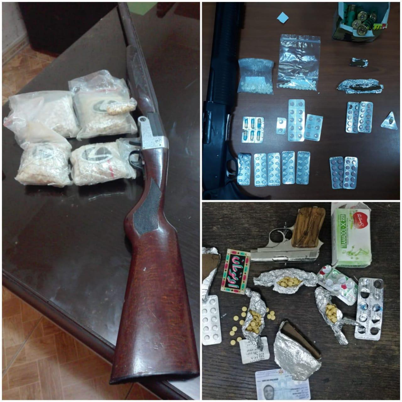 القبض على (17) شخصا من المطلوبين ومروجي المواد المخدرة وضبط اسلحة نارية و مواد مخدرة