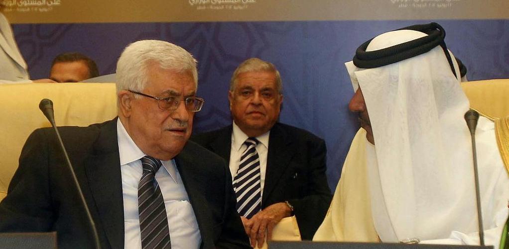 """حمد بن جاسم يدعو """"عباس"""" لتسليم السلطة"""