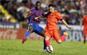 شاهد : برشلونة يرد على ريال مدريد ويمزق شباك ليفانتي بخماسية