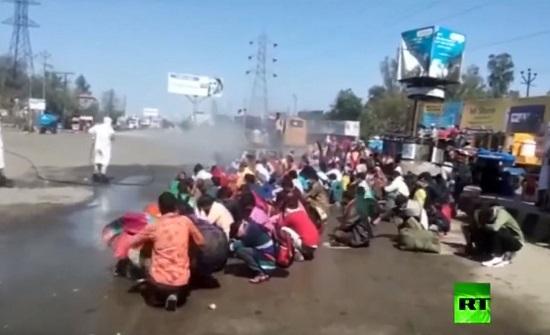 بالفيديو :تعرف على أغرب طريقة للتعقيم من كورونا