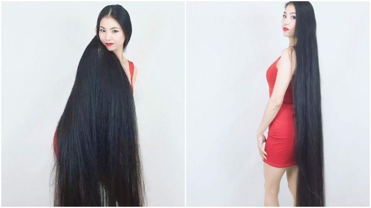 بالفيديو  ..  يابانية لم تقص شعرها منذ 15 عاما