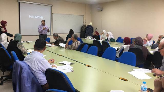 ورشة عمل بكلية الصيدلة والعلوم الطبية بجامعة عمان الاهلية بعنوان: protein electrophoresis and western blotting