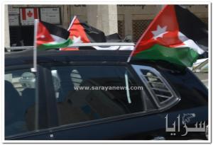 """بالصور .. """"سرايا"""" ترصد مواكب احتفالات المواطنين في عمان بعيد الاستقلال الـ70 للمملكة"""