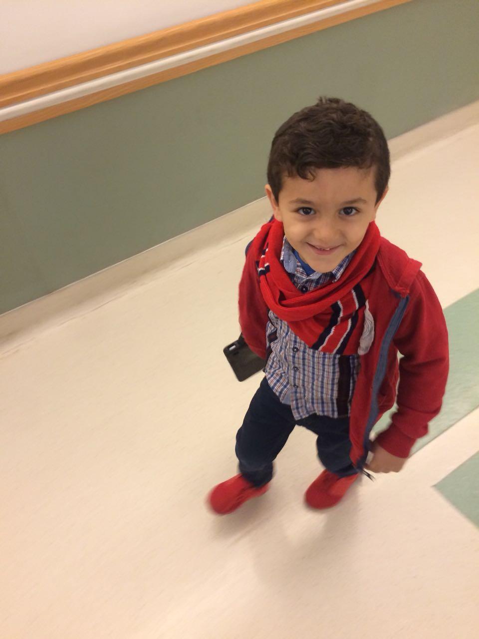 الطفل جواد محمود يطفئ شمعته الثالثة