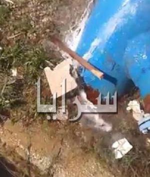 بالفيديو هدر كبير للمياه في محطة سما السرحان .. واهالي البادية الشمالية عطشى