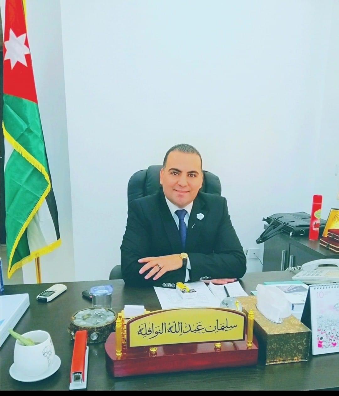 سليمان عبدالله النوافله  ..  مبارك الماجستير
