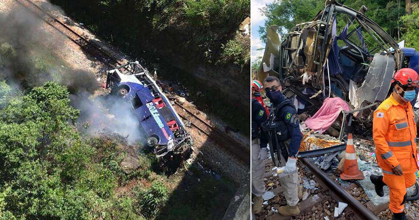 الحافلة سقطت من فوق الجسر وقتلت 16 شخصاً