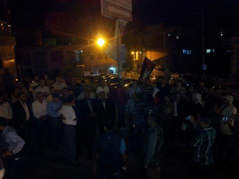 مسيرات  في الطفيلة والزرقاء واربد نصرة لغزة