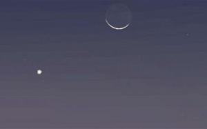 الليلة .. يمكن رؤية القمر والمشتري والزهرة معاً بالعين المجردة