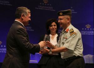 تهنئة لـ العميد صالح ملكاوي بمناسبة جائزة القيادي المتميز