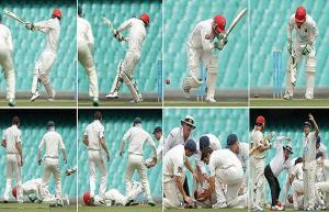 بالفيديو.. وفاة لاعب كريكيت أسترالي بعد إصابته بكرة في رأسه
