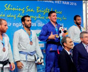 ذهبية وفضية وبرونزية للجوجيتسو الأردنية في ألعاب آسيا الشاطئية
