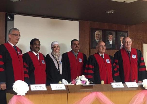 """رسالة ماجستير للطالبة عالية العثمان"""" كلية الصيدلة والعلوم الطبية"""" في جامعة عمان الاهلية"""