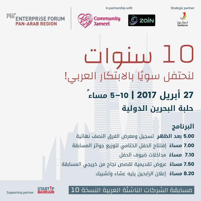العيد العاشر لمنتدى MIT لريادة الأعمال في العالم العربي يحتفل بالابتكار العربي في البحرين