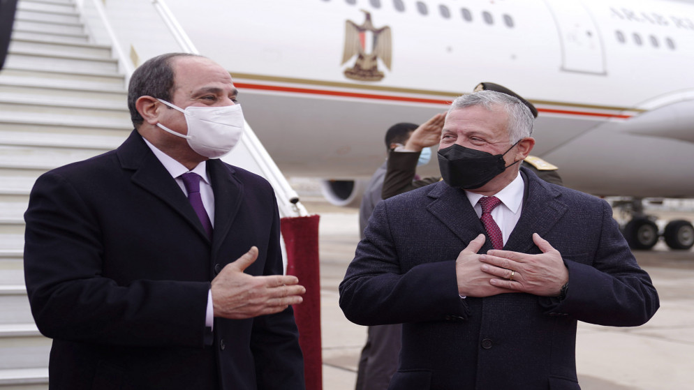 السيسي يغادر الأردن