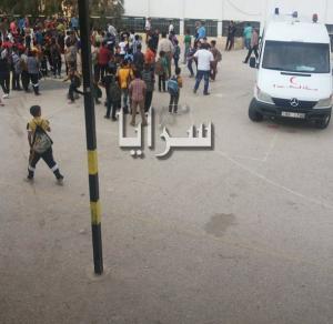اربد : سقوط (3) طلاب في بني كنانة .. اثناء تزيينهم مدرستهم لزيارة عبدالله النسور