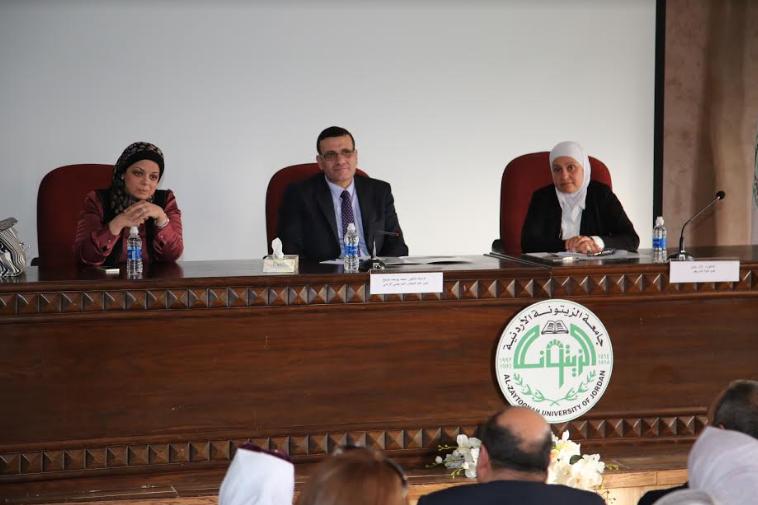 """أمين عام مجلس التمريض الأردني يلتقي طلاب الدراسات العليا في كلية التمريض في """"الزيتونة"""""""