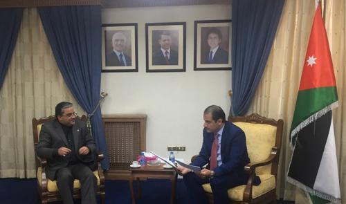 الخزاعلة يبحث والسفير الايراني العلاقات البرلمانية
