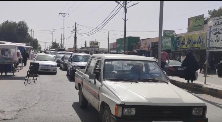 ازدحامات مرورية في أسواق محافظة المفرق الخميس