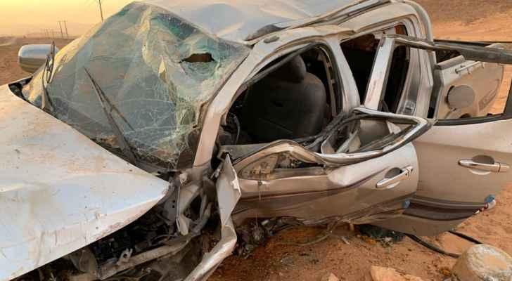 وفاتان و6 إصابات بحادث سير مروع في وادي رم