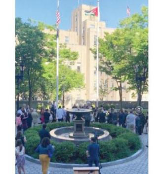 رفع العلم الأردني على بلدة أميركية بمناسبة عيد الاستقلال