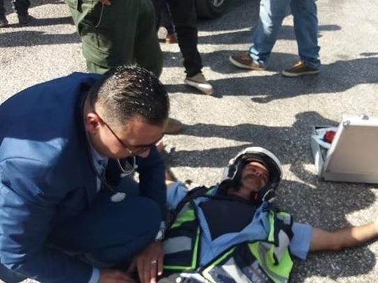 إصابة شرطي مرور في حادث دهس عرضي برام الله