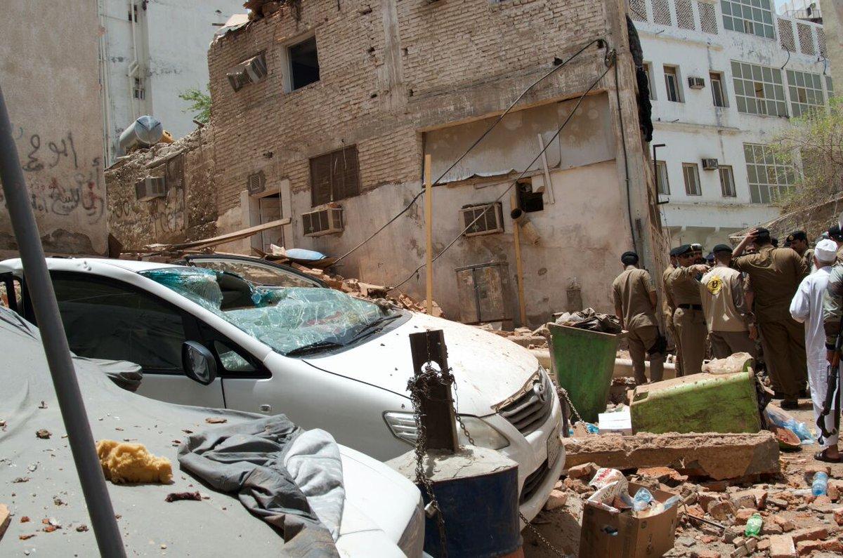 بالصور..شاهد المبنى الذي كان الانتحاري يتحصن بداخله في مكة