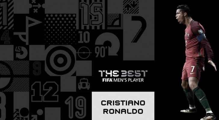 رونالدو يفوز بجائزة الفيفا لأفضل لاعب في العالم لعام ٢٠١٧