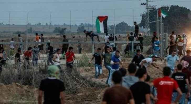 خمس اصابات برصاص الاحتلال في مواجهات غزة