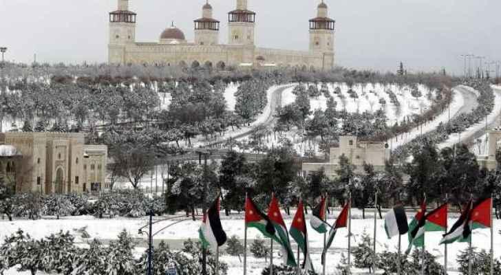 بالفيديو .. الثلوج في عمان