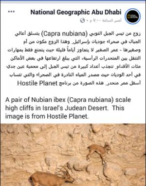 """قناة امارتية تثير مواقع التواصل الاجتماعي بعد تسميتها صحراء فلسطين بصحراء """"إسرائيل"""""""