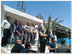 """موظفو سلطة مياه الزرقاء ينفذون إعتصاما لتحقيق مطالبهم """"صور"""""""