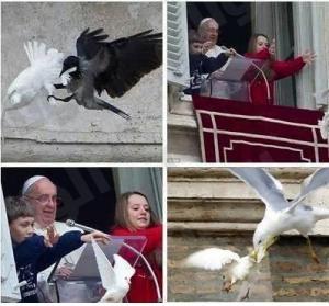 """بالفيديو : """"الفاتيكان"""" يستبدل """"الحمام"""" بإطلاق البالونات رمزاً للسلام"""