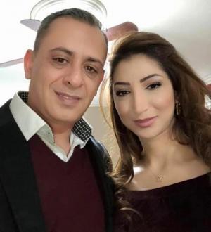 بسام حدادين وزوجته رشا زيادين يرزقان بـ فارس وفادي