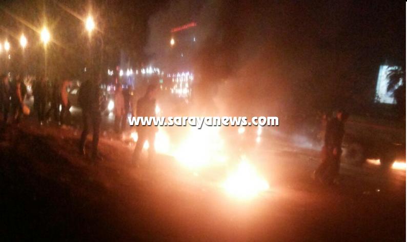 اعمال شغب وحرق منازل وتحطيم مركبات عقب مقتل شاب بمشاجرة بحي نزال