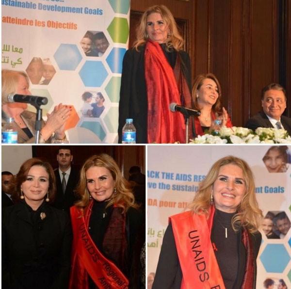 صور تنصيب النجمة المصرية يسرا سفيرة للنوايا الحسنة 2017