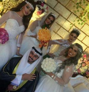 """بالفيديو .. """"شهريار العرب"""" الكويتي يكشف حقيقة زواجة من 4 فاتنات في ليلة واحدة"""