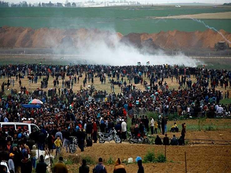 الاحتلال يستهدف المشاركين في تظاهرات برام الله عشية يوم الأرض