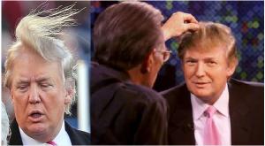 """ترامب يدافع عن شعره وامرأة تتفحص """"صلعته"""" بنفسها"""