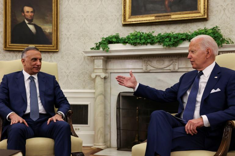 بايدن والكاظمي يوقعان اتفاقا لإنهاء المهمة القتالية الأمريكية بالعراق